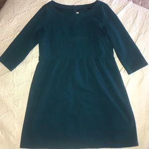 LOFT teal fit and flair dress. EUC